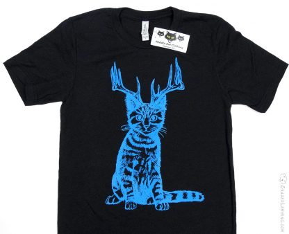 Catalope Shirt - Blue on Heather Black