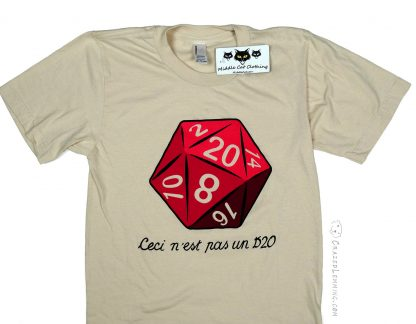 "Sand Colored ""This is not a D20"" shirt"