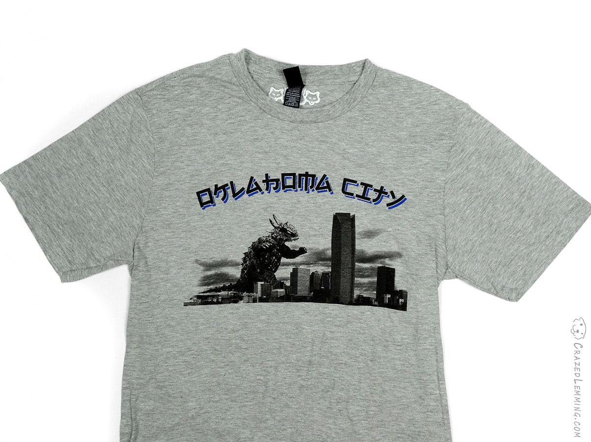 Okc kaiju monster shirt grey