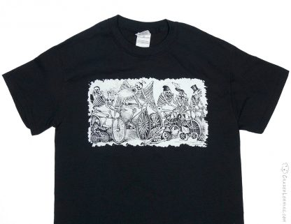 Cycling Skeletons Posada Etching Shirt