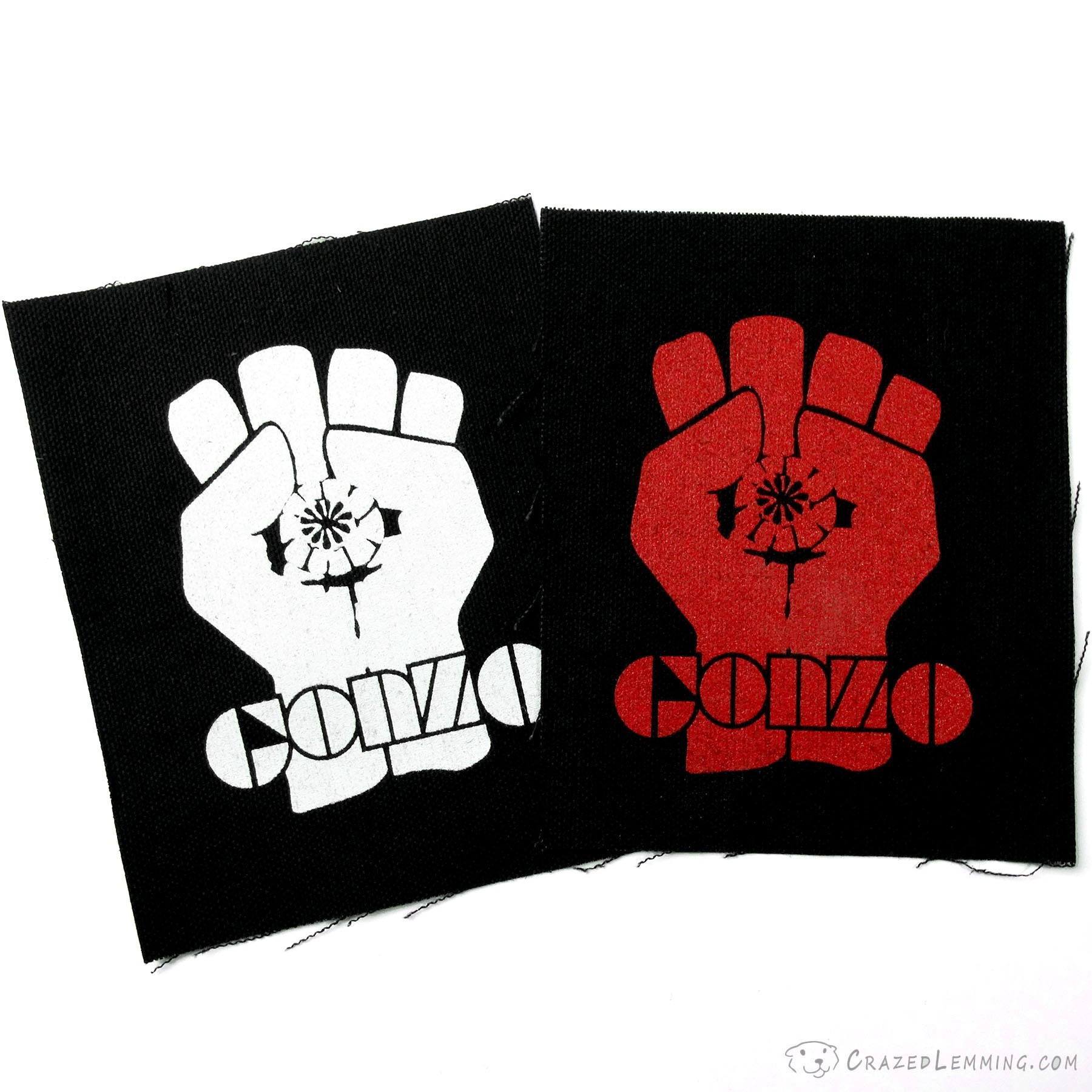 Gonzo Fist Symbol Canvas Sew-on Patch