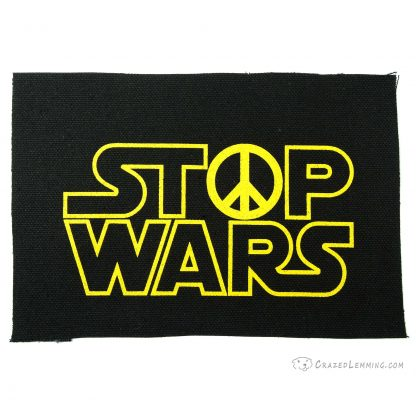 Stop Wars Canvas Patch