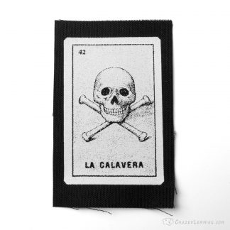 Loteria La Calavera Skull and Crossbones Patch