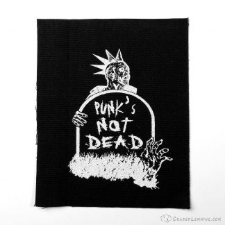 Punk's not dead zombie canvas patch