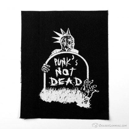 Punk's not dead zombie canvas patch