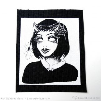 Goth Spider Girl Patch