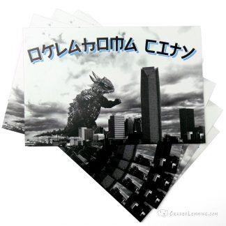 OKC Kaiju Attack Postcard