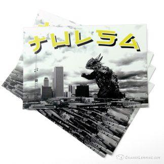 Tulsa Kaiju Attack Postcard
