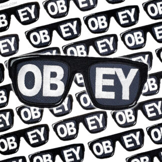 Obey Sunglasses Embroidered Patch